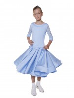 Lacey Ballroom Dress With Crinoline Hem