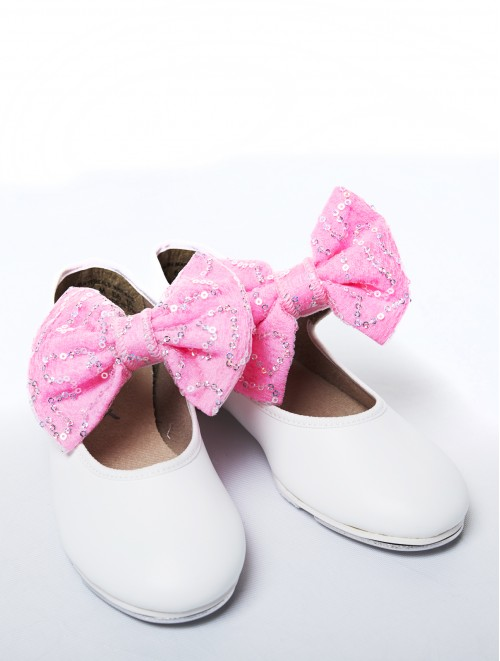 b45085b83 Bows For Tap Shoes (Snow Sequin)