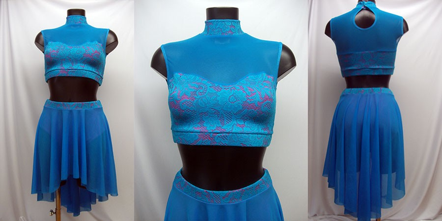 New Lyrical Outfits - in gorgeous stretch lace in contrasting colours coming to Esme Collection